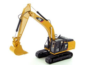 CAT 336E H Hybrid Hydraulic Excavator, Construction Model, Norscot 55279, 1:50 scale in Yellow This CAT 336E H Hybrid Hydraulic Excavator Diecast Model Excavator is Yellow and features working bucket, lift arm, tracks. It is made by Norscot and is 1:50 scale (approx. 16cm / 6.3in long).