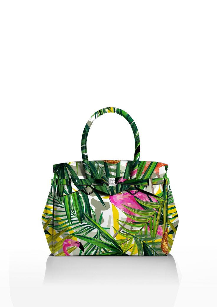This iconic tote is available in over 30 colours to suit every style!   Light and versatile, the Miss bag is our collection's best seller. The covetable tote comes with a bow and interchangeable strap to make the bag customisable.  Size  340 x 290 x 180 mm  380g  Made in Italy  Vegan Friendly  Made from Poly-Lycra Fabric   Tropical