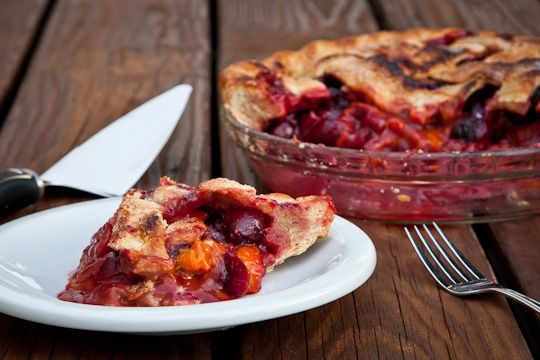 Apricot, Sweet Cherry and Plum Vanilla Spiced Pie - Eat The Love