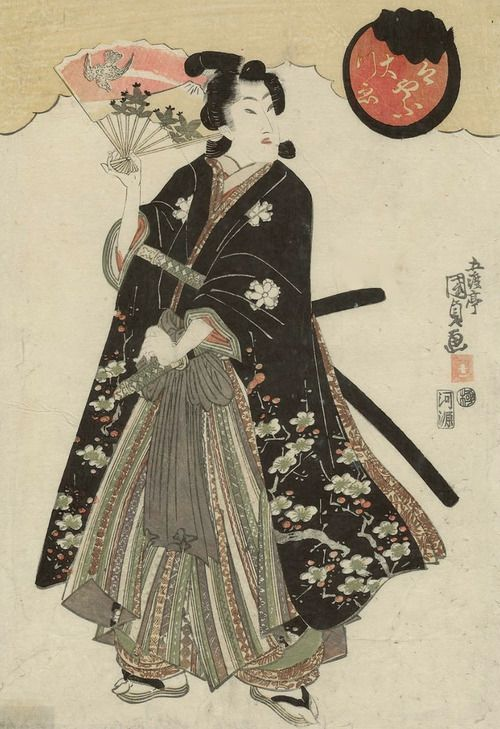 Falconer. Ukiyo-e woodblock print. Mid 1800's, Japan, by artist Utagawa Kunisada I