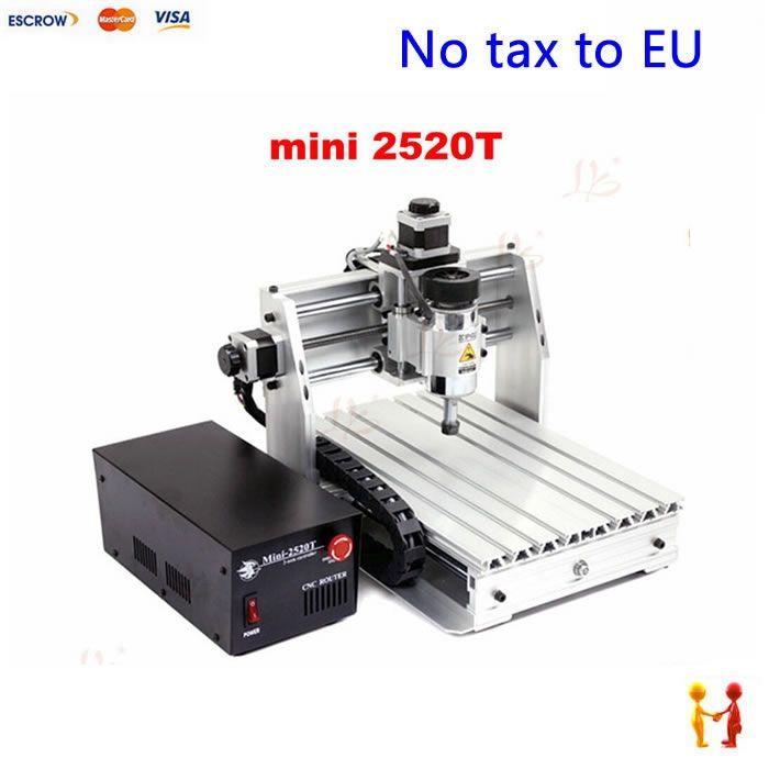 (550.00$)  Buy here  - (NO TAX TO EU) MINI Cheap cnc machine 2520T high quality woodworking cnc router 3axis