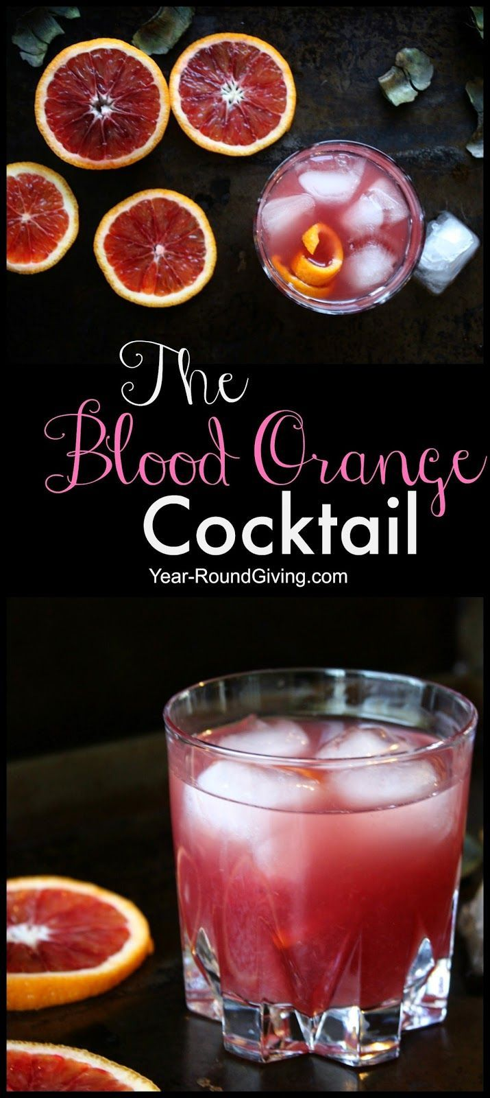 The Blood Orange Cocktail. This cocktail is absolutely stunning. The color is so gorgeous it has to taste good! The Grand Marnier blends so nicely with the natural juices and that pop of gold rum gives it a subtle reminder that, hey this is cocktail!