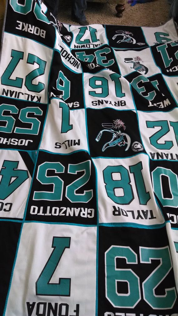 Someday I will do this with all my old soccer jerseys! (I Like this design from etsy)