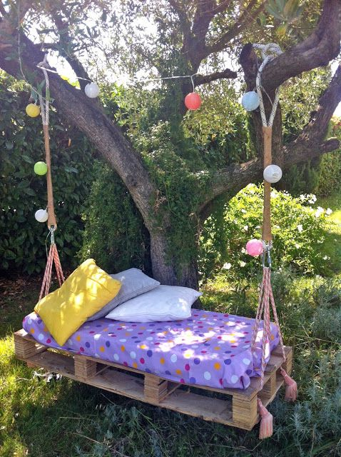 mommo design - OUTDOOR PALLET FUN - pallet swing