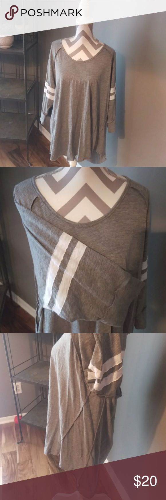 Torrid Football Tunic EUC. Bought on Poshmark and doesn't fit. Adorable top with fun stitching details! Great with leggings for a Saturday football game. torrid Tops Tunics