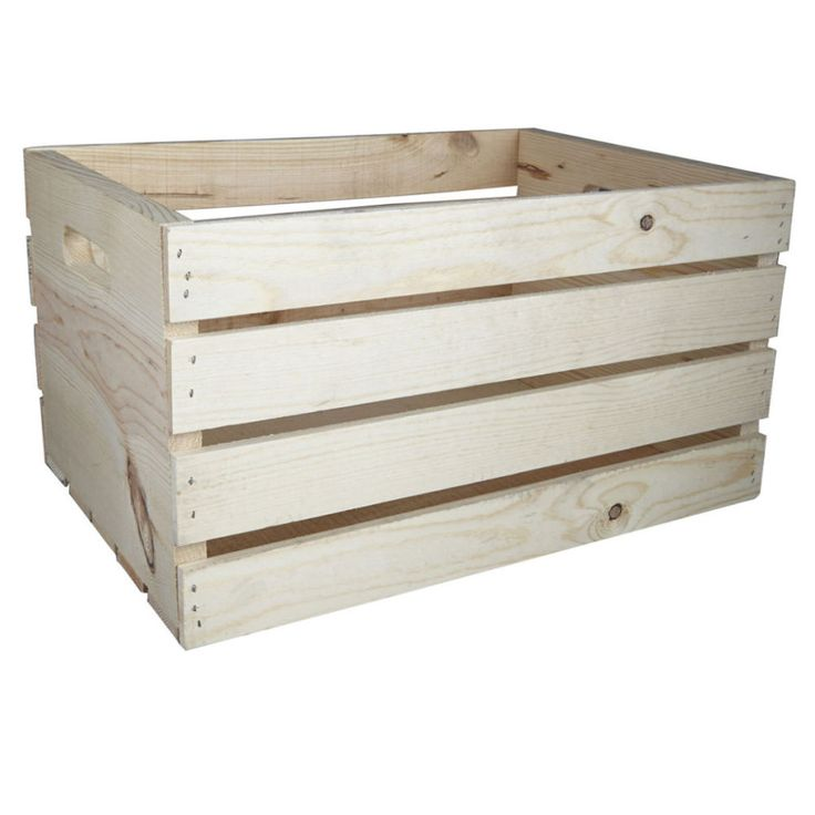 """ArtMinds® Wood Crate Carry All  12"""" x 9.75"""" x 18"""" Wood crate Made of pine Michael's $13.95"""