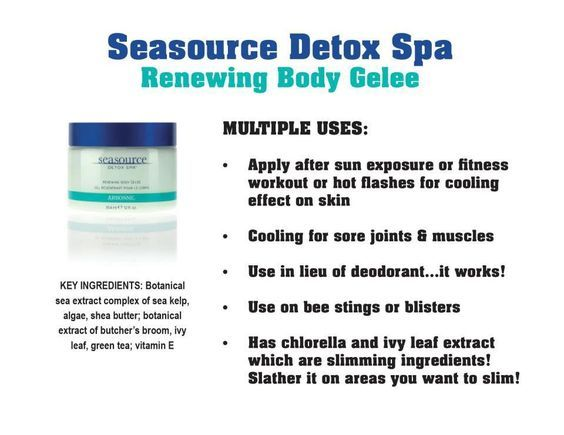 Check out the multiple uses of your favorite Arbonne product: Seasource Detox Spa Renewing Body Gelee
