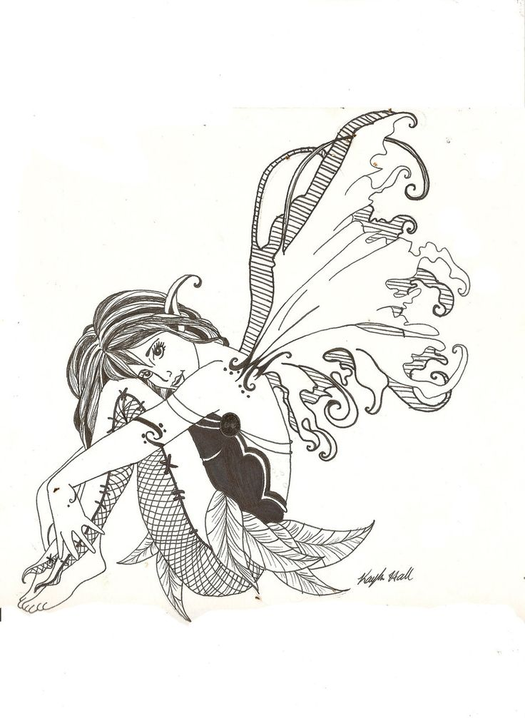 Fairy+Drawings | line art fairy longer by ~pokeapeanut on deviantART
