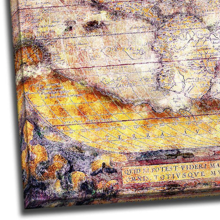 Tablou Harta Lumii Vintage Detaliu 1