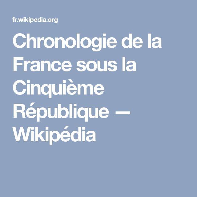 Chronologie de la France sous la Cinquième République — Wikipédia