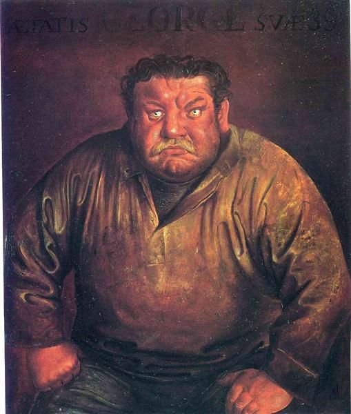 Portrait of Heinrich George by Otto Dix. Verism. portrait