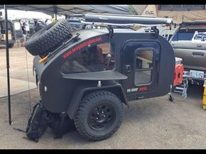 """mini"" off road tear drop trailer by Oregon Trail'R :Offload Expo 2017 - YouTube"