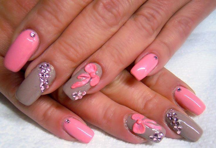 ❤❤❤Bellos y divertidos diseños de uñas decoradas con lazos de diferentes modelos, para que rompas la monotonía de los colores neutros❤❤❤