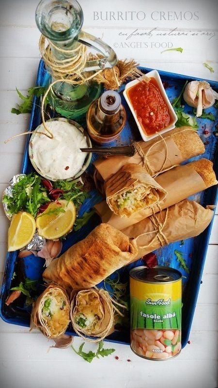 Angel's food: Burrito cremos cu fasole, usturoi si orez