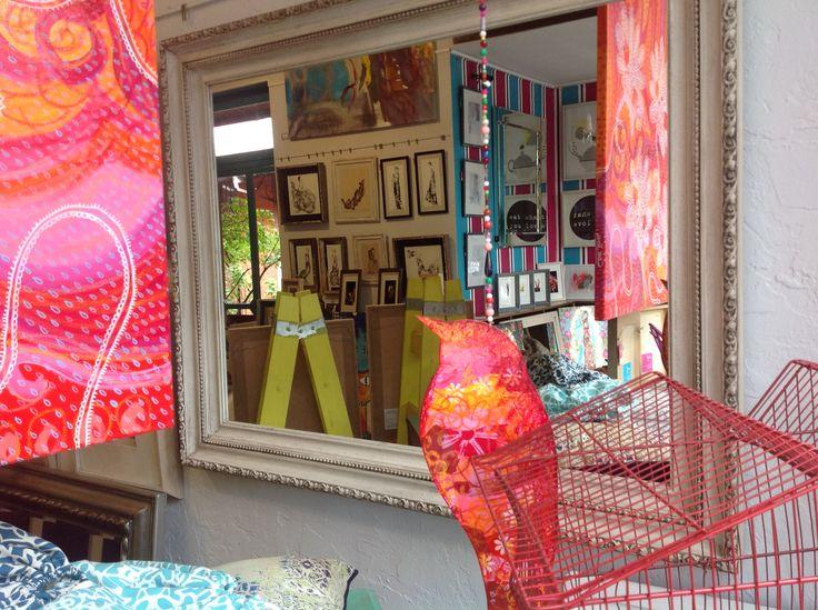 Espejo color tiza #Arte #CaroldeJong #Marcos #Atril23 #Decoración