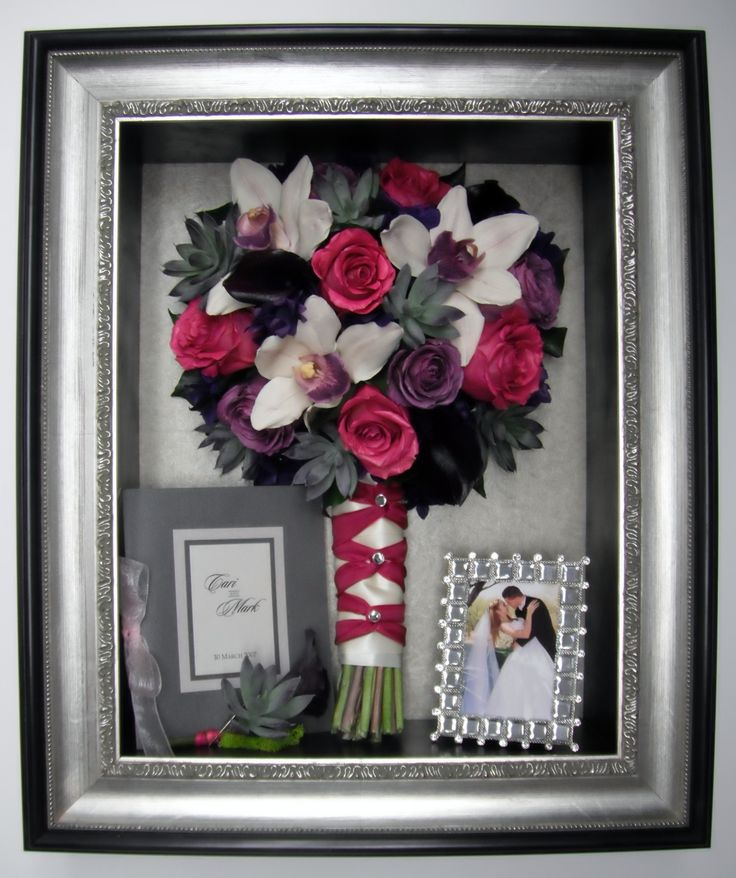 Freeze Dried Wedding Bouquet In Our Custom Shadow Box Facebook