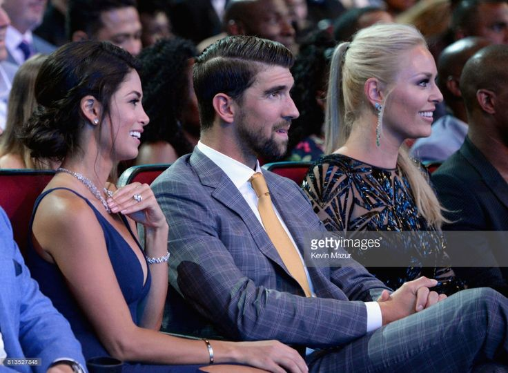 Nicole Johnson, Michael Phelps and Lindsey Vonn in the audience at The 2017 ESPYS at Microsoft Theater on July 12, 2017 in Los Angeles, California.