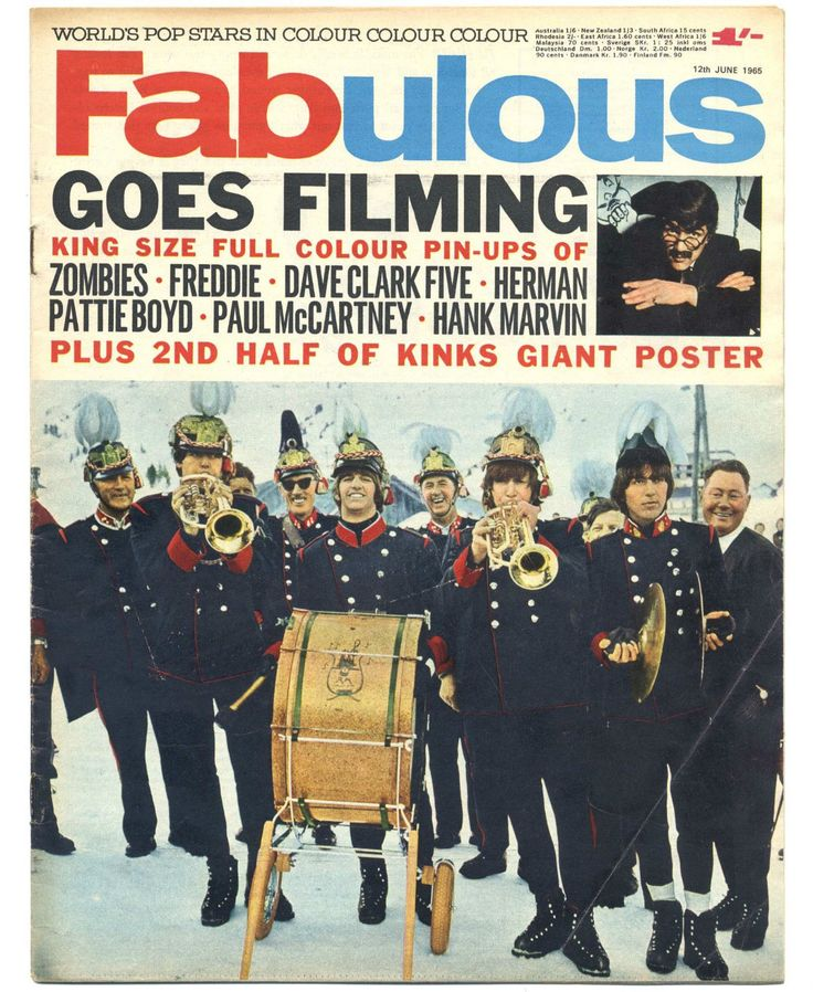 FABULOUS 208 12/6/1965 THE BEATLES ON COVER Kinks McCartney Zombies Hank Marvin Dave Clark Beatles | eBay