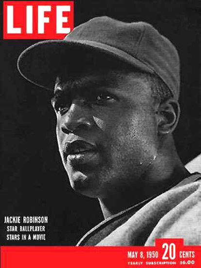 Life Magazine Cover Copyright 1950 Jackie Robinson - www.MadMenArt.com | Life Magazine ran weekly from 1883 to 1972. First as a humor and general interest magazine and from 1936 it was the worldwide magazine no 1 in photojournalism. #LifeMagazine #Vintage #Life #Magazines #Photojournalism #MagazineCovers #History #Celebs #Celebrities