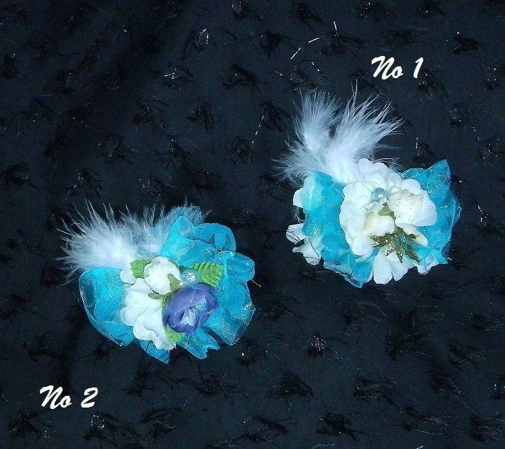 Barrette cheveux bleue mariage filles, pince cheveux bouquetière, bijoux pour cheveux, accessoires pour cheveux fait à la main. de la boutique RoseKaktus sur Etsy
