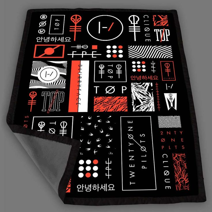 Twenty One Pilots Icons Blanket Fleece Design Bedding Quilt Throw Blankets