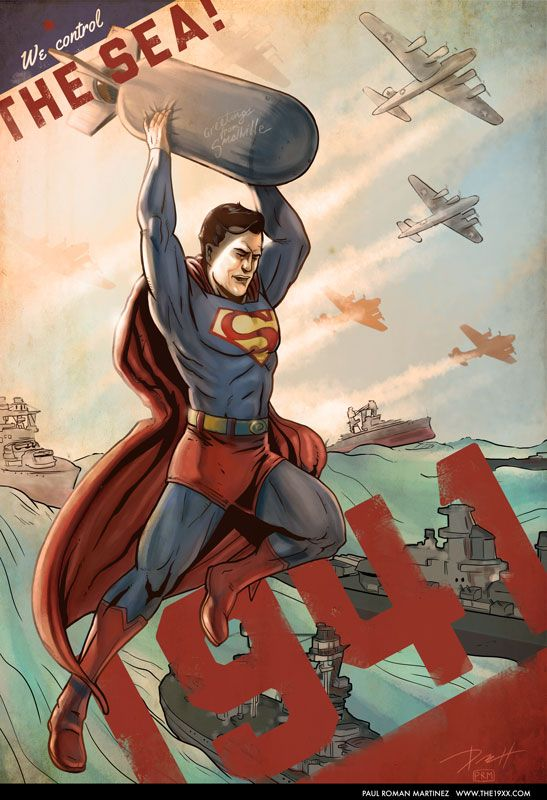 Superman 1941 - Flying with the Fleet by PaulRomanMartinez