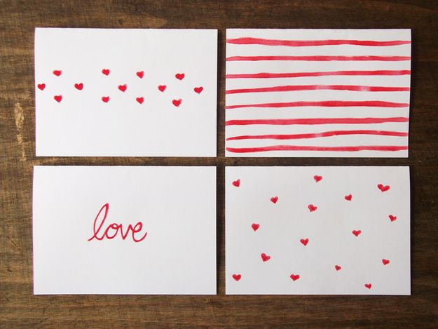 Watercolor Valentines | 41 Heart-Shaped DIYs To Actually Get You Excited For Valentine's Day