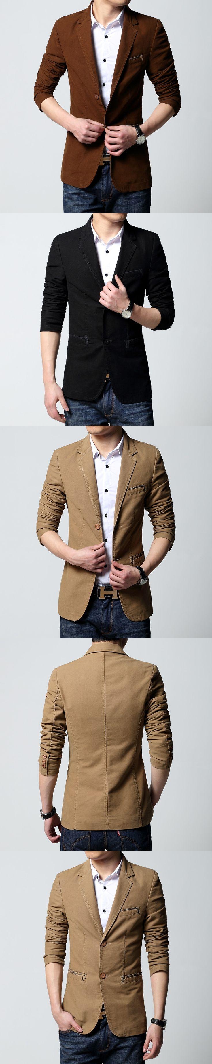 Mens casual blazer and jacket new korean fashion style black khaki brown slim fit hot sale Male coat plus size big 6XL drop ship