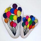 taş boyama balon