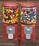 Gum Ball machines everywhere you went. I choked on one of these at JC Penny, as the story goes my dad picked me up and turned me over and pounded on my back until it came out. I had stopped breathing, my dad said that it was one of the scariest things that happened to my mom and him. I was 4. From then on my mama would have to bite it in half if I was ever allowed to have one...lol. Now I have a pink gum ball machine in my front room...she would beat my butt !