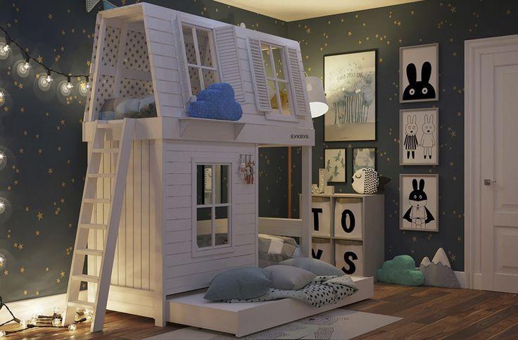 Домик мечты | Кровати-чердаки | Кровати-домики | Двухъярусные кровати | Детские кровати | Фабрика детской мебели BukWood | Буквуд