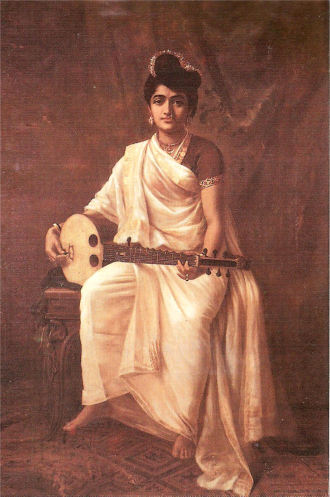 Raja Ravi Varma Paintings - 18th Century Indian Traditional Paintings