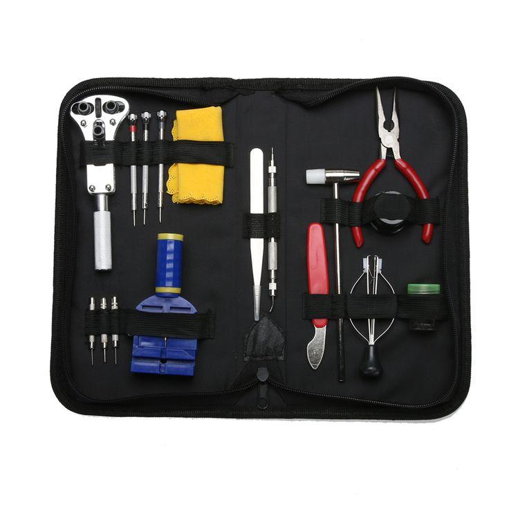 >> Click to Buy << 16 in 1 Watch Repair Tools Kit Set Clock Back Case Cover Opener Screwdrivers Link Remover Spring Bar Repair Tool Kijk reparatie #Affiliate