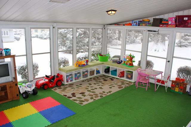 Organizing For Six Our Playroom In The Sunroom Playroom
