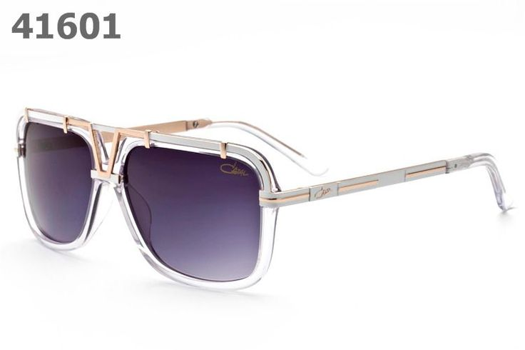 Cazal Sunglasses 8003 clear frame purple lens