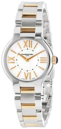 A Raymond Weil Girls quartz watch with a mom of pearl roman numeral dial, set in…