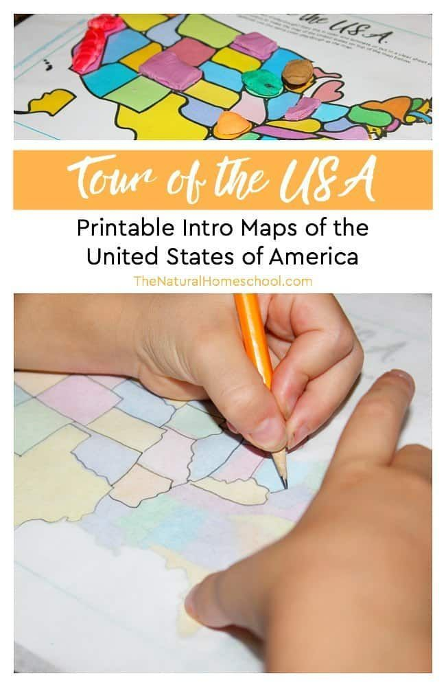Free Printable Intro Maps of the United States | United States for ...