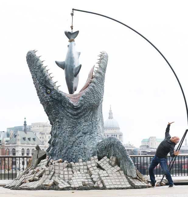 The life-sized Mosasaurus from Jurassic World on London's South Bank