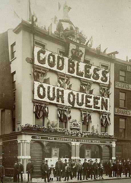 Queen Victoria's Diamond Jubilee - London decorations  