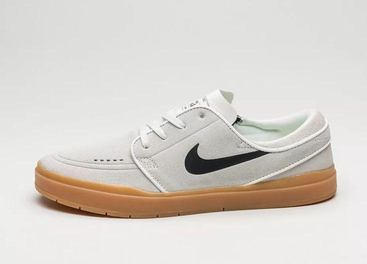 Nike SB Stefan Janoski Hyperfeel (Summit White / Black - Gum Light Brown)