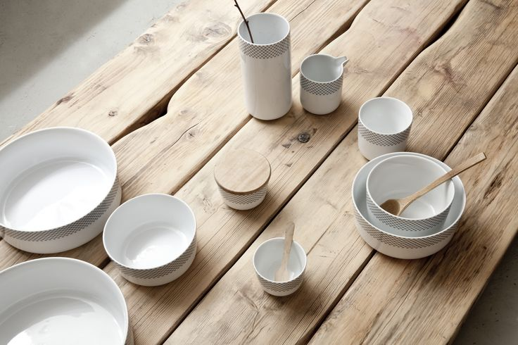 Pojemnik kuchenny z pokrywką Grey Stiches - Menu - DECO Salon. By combining products from the collection can be made for a full tableware for everyday meal. #container #kitchenaccessories #gift #scandinaviandesign