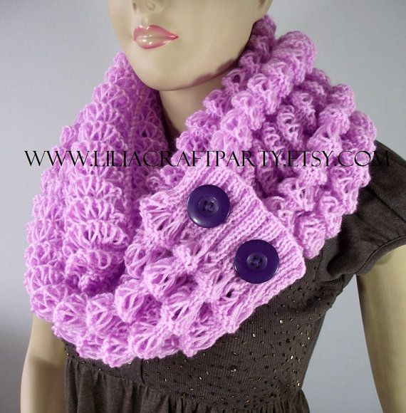KNITTING PATTERN COWL Scarf  Angel Wings Winter by LiliaCraftParty