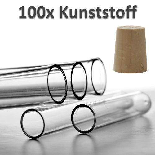 100 Stück 5,99 Euro für Badesalz Kunststoff : Reagenzglas mit Echtkorken