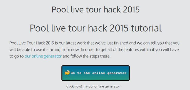 Pool live tour hack 2015 | online cheats generator