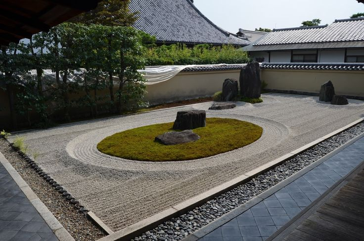 Garden at Tenryu-ji monastery, Kyoto. Classic sand garden, pool and borrowed scenery.        I have a clear memor...