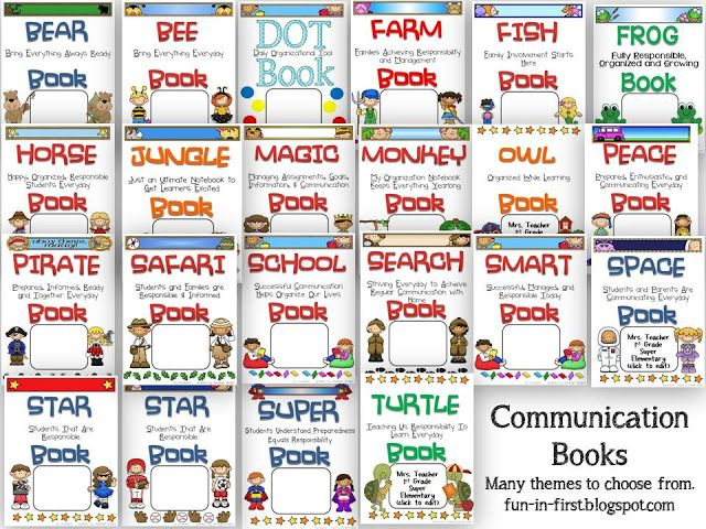Communication Folders...tons of themes to choose from