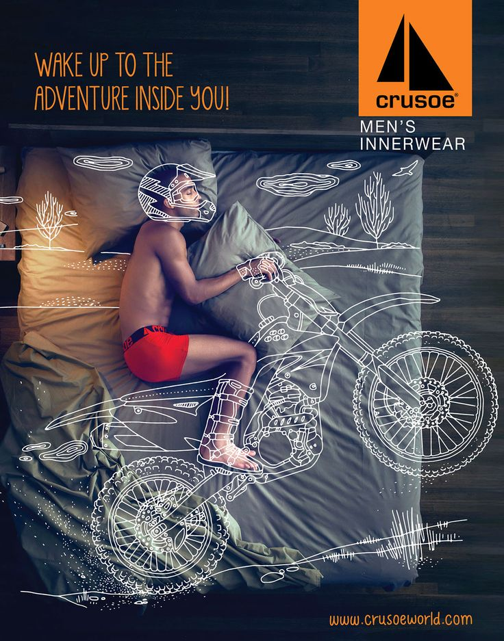 Crusoe Men's Innerwear. Wake up to the adventure inside you! #Meraki, #Crusoe Credits: http://goo.gl/Tj1kbO