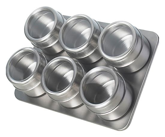 Portaspezie magnetico in acciaio inox, 24x17 cm