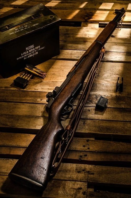 Finally for the Americans we have the M1 Garand. I absolutely love this gun. I have never fired one, but the clip feeds itself through as you fire. It is auto-loading so as the clip containing the rounds feeds from the bottom to the top, it will then pop off the top with a gratifying sound, like a coin being flipped. Anyway, this beautiful weapon fires a .30-06 Springfield cartridge.