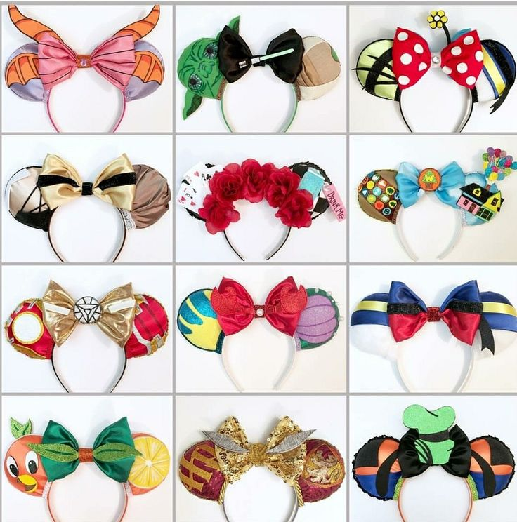 Homemade Disney ears! I'm in love. My favourites are Goofy and Yoda. So creative!